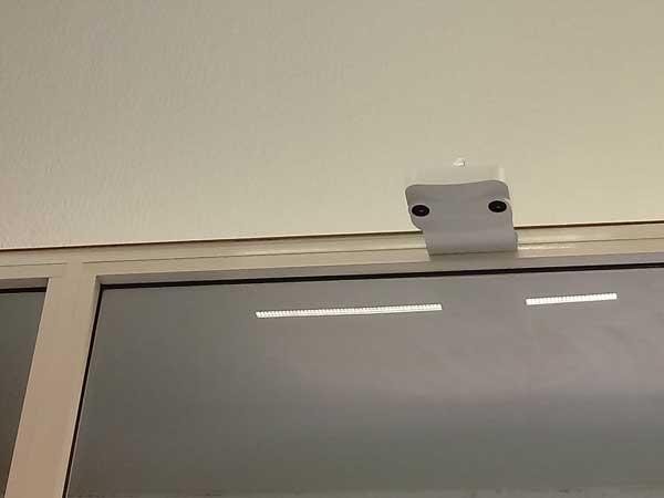 Contapersone a telecamera ottica con assoluto rispetto della privacy