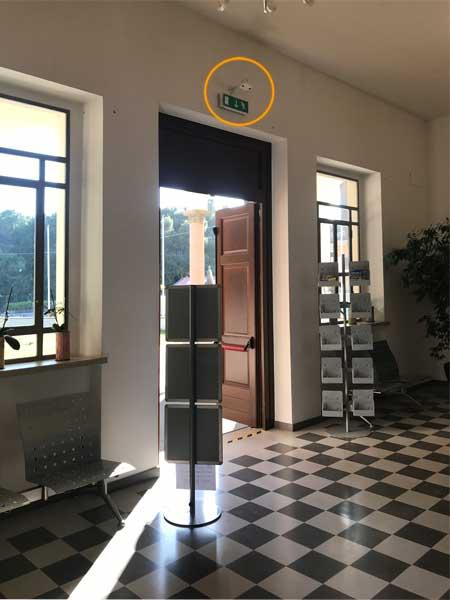Contapersone per musei telecamera Museo Aurum Pescara